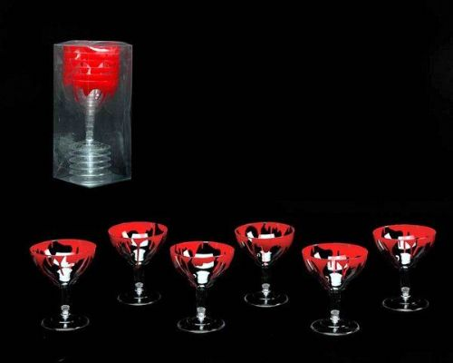 Table Glasses Bloody 6s Vampire Zombie Bleeding